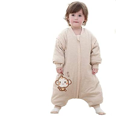 67614e426a61 Amazon.com  Toddler Baby Unisex Winter Warm Sleepsack Bag Romper ...