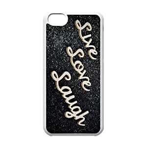 iPhone 5c Cell Phone Case White Live Love Laugh A38426680