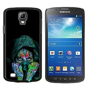 KLONGSHOP // Cubierta de piel con cierre a presión Shell trasero duro de goma Protección Caso - Colorido Mujer india - Samsung Galaxy S4 Active i9295 //
