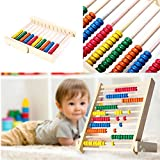 Sealive Montessori Educational Toy Materials Wooden Math Toy Wood abacus Children Preschool Teaching Counting and Stacking Board,Best Counting Toy Gift For School Boys and Girls
