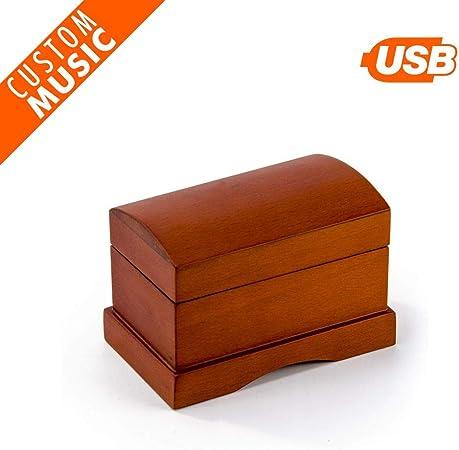 MusicBoxAttic Caja de música con módulo de Sonido USB Personalizable en Tono de Madera Mate: Amazon.es: Hogar