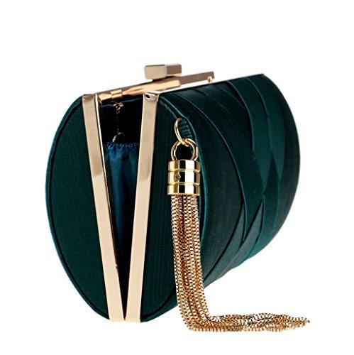 Borsa Europea Clutch E Evening Dress Lady Nappa Viola Silk Da Sera colore Nuova Blu Americana Shishang 2018 gEqYRR