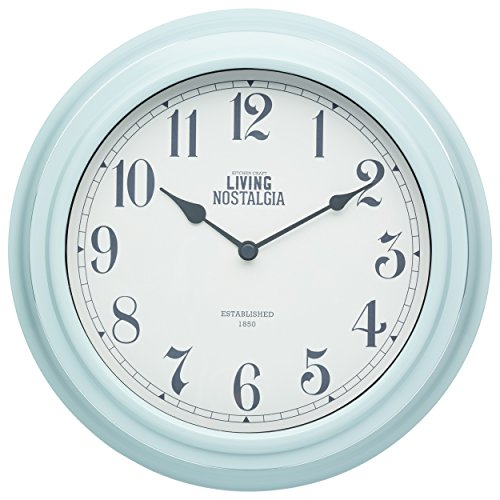 Kitchencraft Living Nostalgia Analogue Wall Clock, Vintage Blue, 25.5cm (10 ()