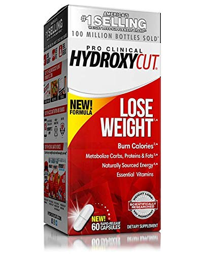Hydroxycut Advanced-Weight Loss Supplement, 60 Capsules, Increase and Lose More Weight (2 pack)