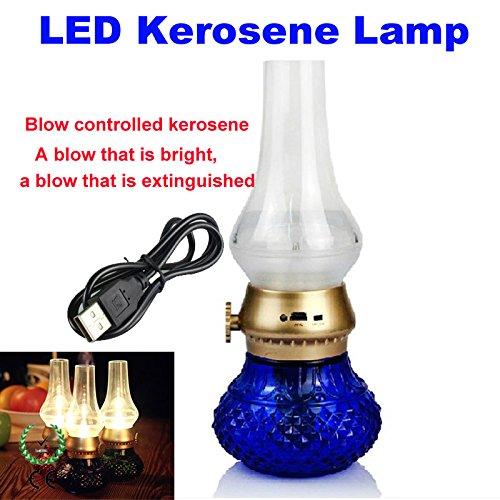 Amazon.com: Blowing control nostalgic energy-saving LED lamp kerosene lamps adjustable brightness characteristics of creative gifts X 10PCS: Baby