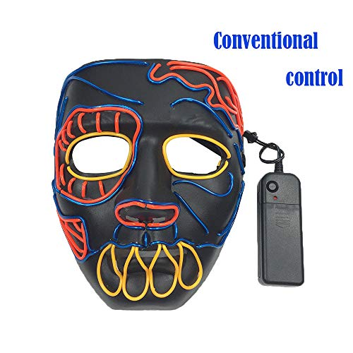 WOCACHI Clearacne Sale! Promotion! Halloween Masks LED Scary Demon Skull Cold Light Sound Control Mask -