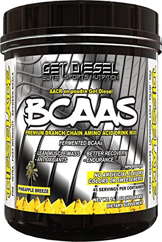 Vegan Bcaa - All Natural - Dieselade Best Available - 45 servings (Pineapple Breeze)