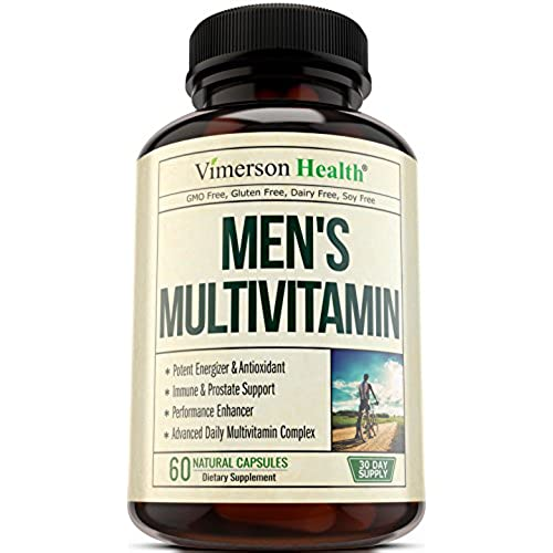Mens Daily Multivitamin/Multimineral Supplement - Vitamins A C E D B1 B2 B3 B5 B6 B12. Magnesium, Biotin, Spirulina, Zinc. Antioxidant For Heart & Immune ...
