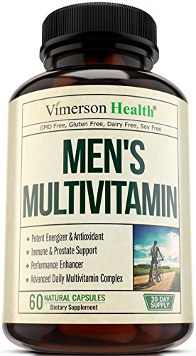 - 51T72DkubeL - Men's Daily Multivitamin Supplement – Vitamins A C D E B1 B2 B3 B5 B6 B12, Saw Palmetto, Zinc, Selenium, Spirulina, Calcium, Lutein, Magnesium, Green Tea, Biotin. Natural Non-Gmo Multivitamins