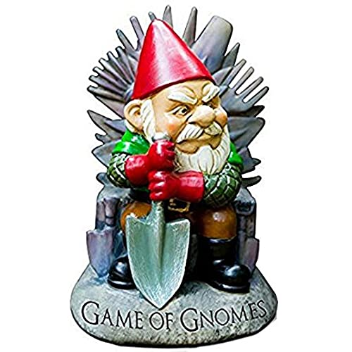 bigmouth inc game of gnomes garden gnome statue hand painted ceramic game of thrones sculpture for garden or desk 9 tall - Funny Garden Gnomes