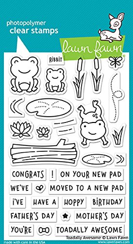 Lawn Fawn Clear Stamps LF1581 Toadally Awesome by Lawn Fawn