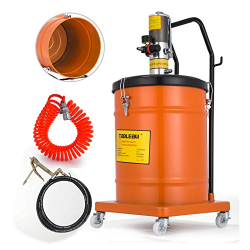 40l Gallons - Mophorn Gallon 10 Gallon Air Operated Pneumatic Compressed Gun Lubrication Grease Pump 50:1 Pressure Ratio(40L)