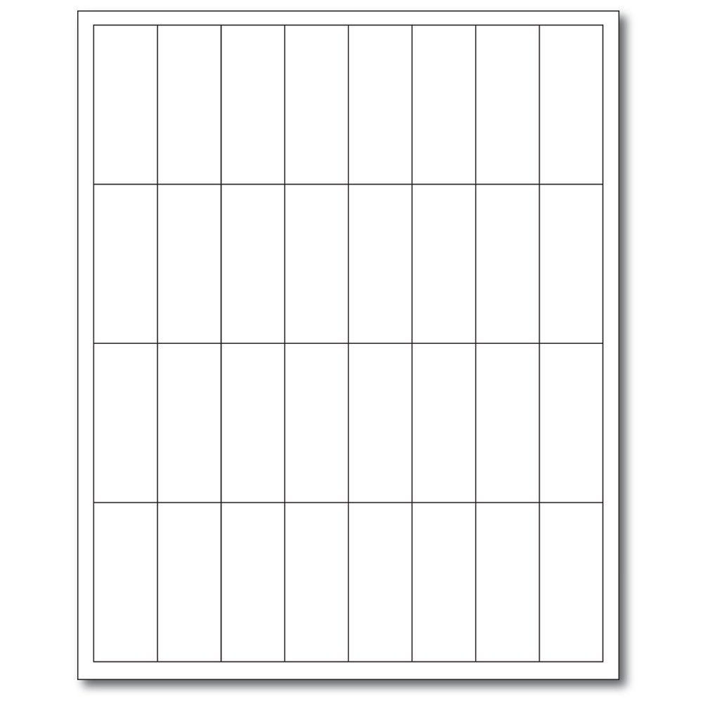 PDC Healthcare WBW72 Laser Landscape Printable Companion Chart Label, Latex and Phthalate Free, 2.625'' Width x 1'' Length, White (Case of 1000)