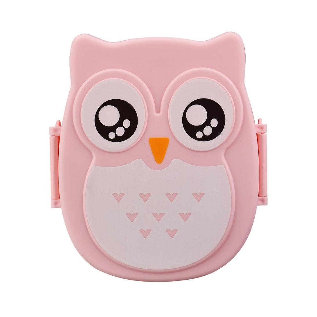 Prettymenny Kids Cute Owl Lunch Box Food Container Portable Bento Box P-wb7