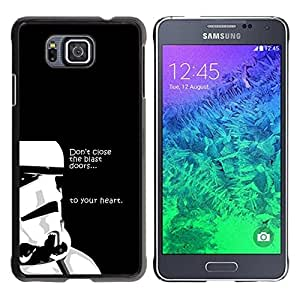 All Phone Most Case / Oferta Especial Duro Teléfono Inteligente PC Cáscara Funda Cubierta de proteccion Caso / Hard Case Samsung ALPHA G850 // Don'T Close The Blast Doors