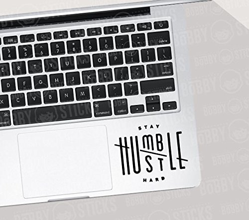 "Price comparison product image Stay Humble Hustle Hard Decal Sticker Macbook Ipad Laptop Iphone Car Window (5.5"" inches,  Black)"