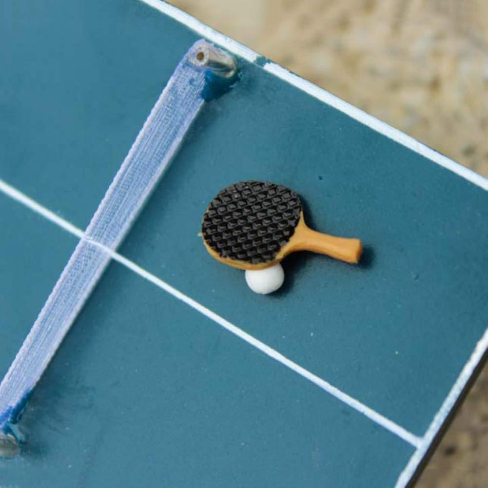 KaiFland Set di Racchette da Tennis Modello da Tavolo in Miniatura Modello Simulazione Bambini