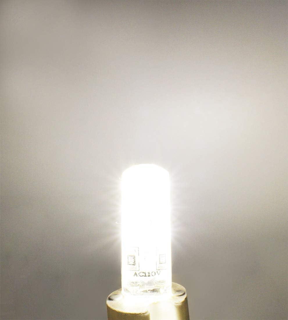 1.5W G4 LED Lamp 24 SMD 3014,AC 110V Non-Dimmable Warm White 2800-3200K 120 LM JCKing 10W Halogen Bulbs Equivalent G4 LED Light Saving Energy Bulbs Pack of 10