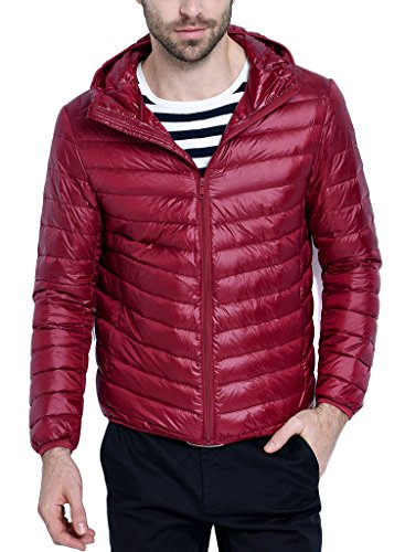 Free Shipping Mens Hooded Packable Down Puffer Coat