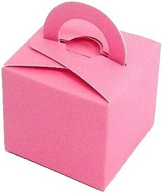 EOZY 10 PC Cajas Papel 6X6cm para Boda De La Fiesta De Cumpleaños del Bautizo Cake Box (Rosa): Amazon.es: Hogar