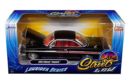 (1961 Chevrolet Impala Black Lowrider Series 1/24 Diecast Car Model By Jada)