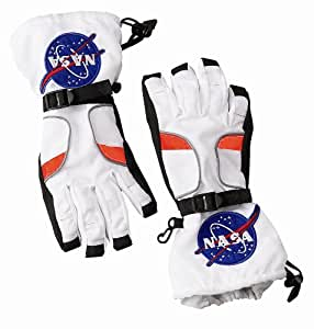 Aeromax Astronaut Gloves, size Small, White, with NASA patches