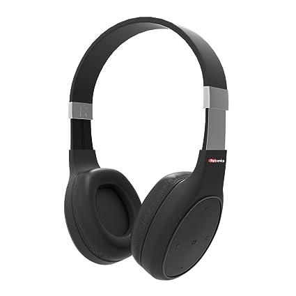 3473d79637a Portronics POR-762 Muffs Plus Wireless Bluetooth Headphone With AUX Port (  Black)
