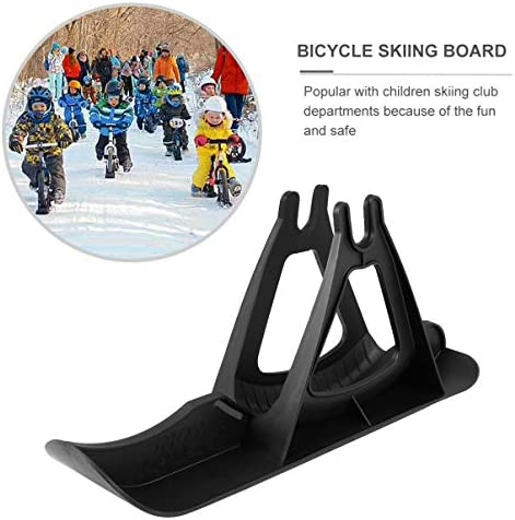 IMIKEYA Snow Sleds Snow Scooter Ski Sled Set for Balance Bikes Snow Slider Ski Set, Black