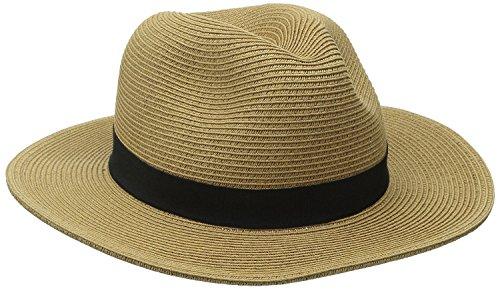 [Unisex Fedora Hat Outdoor Golf Hiker Cap UPF 50+ Tan Black Band Havana] (Ladies Golf Fancy Dress Costumes)