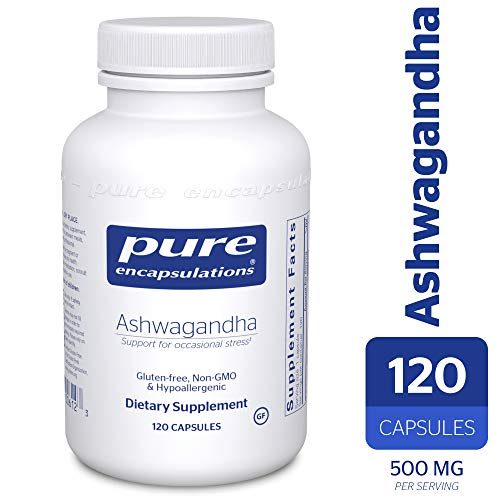 - Pure Encapsulations - Ashwagandha - Supports Cardiovascular, Immune, Cognitive, and Joint Function and Helps Moderate Occasional Stress* - 120 Capsules