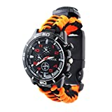 Survival Compass Paracord Rope Men's Watches