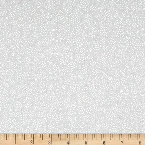 Wilmington Prints Essentials Sparkle White on White Fabric by The Yard, White