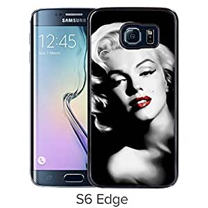 Durable and Fashionable Case Design with Marilyn Monroe Samsung Galaxy S6 Edge Black Phone Case