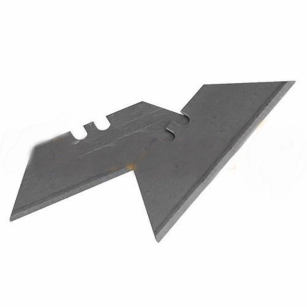 10 Pcs Utility Knife Razor Blade Refill Replacement Double Side Blades w/Case