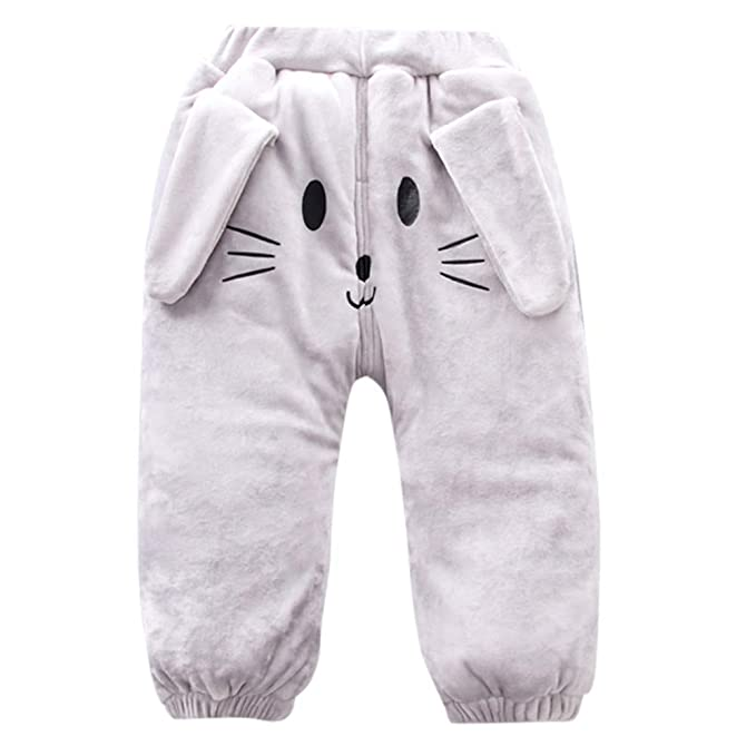 Zerototens Kids Pants,0-3 Years Old Toddler Baby Boys Girls Cartoon Animal Tiger Digital Print Pants Children Warm Autumn Winter Loose Trousers