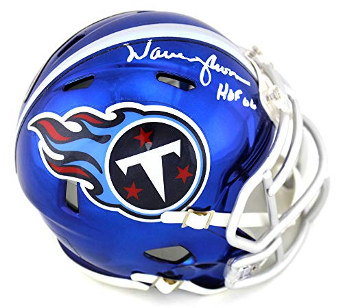 Warren Moon Autographed/Signed Tennessee Titans Speed Mini ()