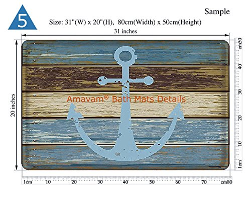 Unique Custom Bathroom 2-Piece Set Various School Supplies On White Background Shower Curtains And Bath Mats Set, 71''Wx71''H & 31''Wx20''H by Amavam (Image #5)