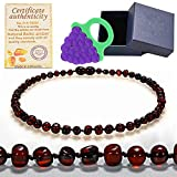 Best Teething Remedies - Baltic Amber Teething Necklace For Babies (Unisex) (Cherry) Review
