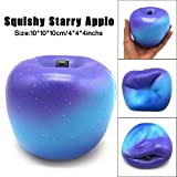 Crazy Squeeze Toys, UBuyit Jumbo Starry Sky Apple Squishy Cream Scented Slow Rising Stress Reliever Toy Charm Gift