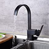 Art Deco/Retro Tall/­High Arc Pull-out/­Pull-down Standard Spout Vessel Ceramic Valve Oil-rubbed Bronze Kitchen faucet