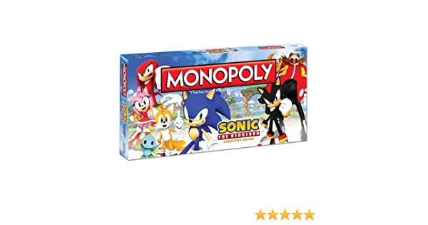 Sonic the Hedgehog Monopoly Board Game: Sonic the Hedgehog Monopoly: Amazon.es: Juguetes y juegos