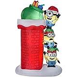 Airblown Self-Inflatable Minions Climbing Wall - Christmas Light-Up Yard Decor