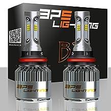 BPS Lighting B2 LED Headlight Bulbs Kit w/Clear Arc Beam 100W 16000LM 6000K - 6500K White CSP LED Headlight Conversion for Replace Halogen Bulb Headlights - (2pcs/set) (9007/HB5)