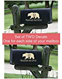 Custom Lettering Mailbox Decals Stickers Address Bear Vinyl Personalized, Set of 2 for Jumbo Mailbox