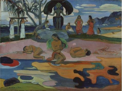 Oil Painting 'Gauguin Day Of God, 1894', 20 x 27 inch / 51 x 68 cm , on High Definition HD canvas prints is for Gifts And Game Room, Hallway And Home Theater Decoration, print image on
