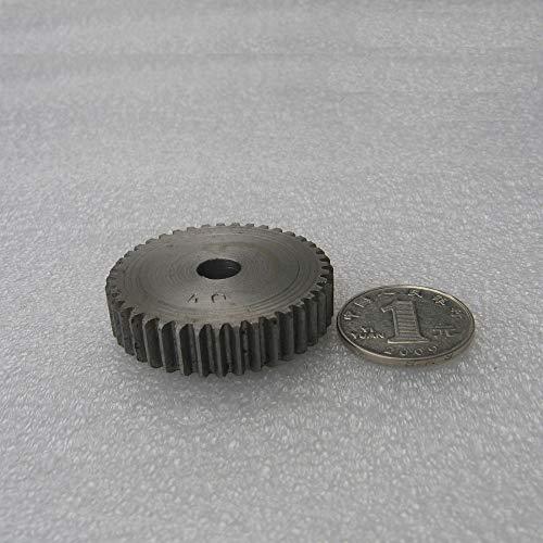 Ochoos Spur Gear Pinion 40T Mod 1 M=1 Width 10mm Blank Hole Right Teeth 45# Steel Positive Gear CNC Gear Rack Transmission Motor Gears