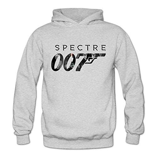 TIKE Women's Spectre 007 Revolver Hood Sweatshirt Color Ash Size S