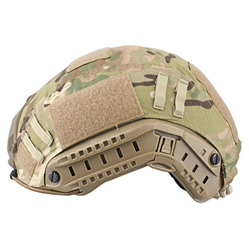 Leagway Tactical Military Combat Helmet Cover for Ops-Core Fast Ballistic Helmet, Airsoft Paintball Hunting Shooting Gear Fast Helmet Cover (CP)