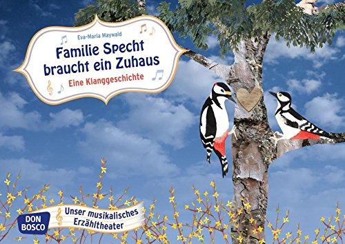 Bildkarten für unser musikalisches Erzähltheater: Familie Specht braucht ein Zuhaus. Eine Klanggeschichte Kamishibai Bildkartenset. Entdecken. Erzählen. Begreifen.