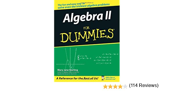 Algebra ii for dummies mary jane sterling 9780471775812 amazon algebra ii for dummies mary jane sterling 9780471775812 amazon books fandeluxe Image collections